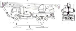 Автокран КС-5576Б чертеж схема