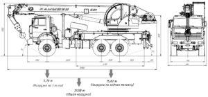Автокран КС-5576Д чертеж схема