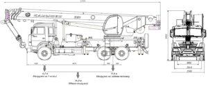 Автокран КС-5576К чертеж схема