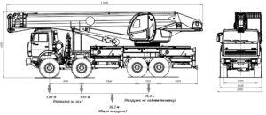 Автокран КС-65740-4 чертеж схема