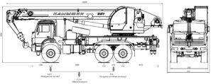 Автокран КС-5576-5-21 чертеж схема