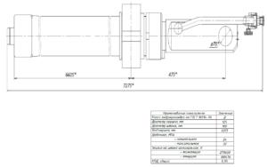 Гидроцилиндр КС-55713-1К-1.63.900 чертеж схема